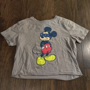 Mickey Mouse Graphic Crop Top